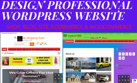 Design Your Professional WordPress Website Fast and Marden