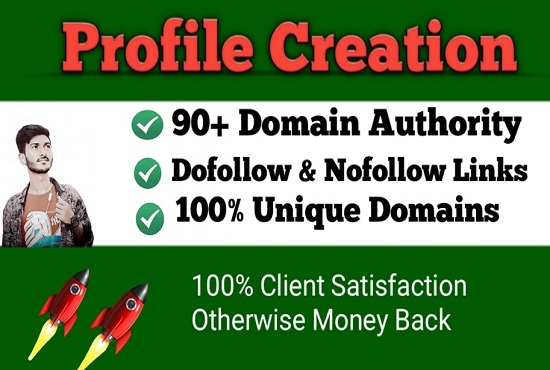 I will do 35 social media profile or profile creation backlinks