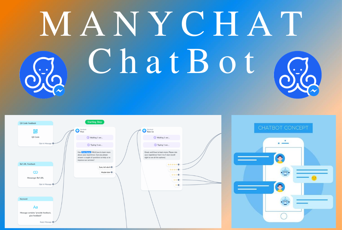 I will create ManyChat for Amazon FBA and Messenger