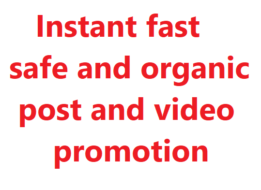 organic promotion for your Post and video