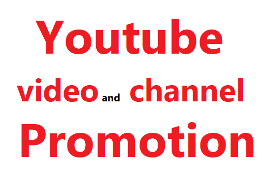 Organice Youtube video and account promotion