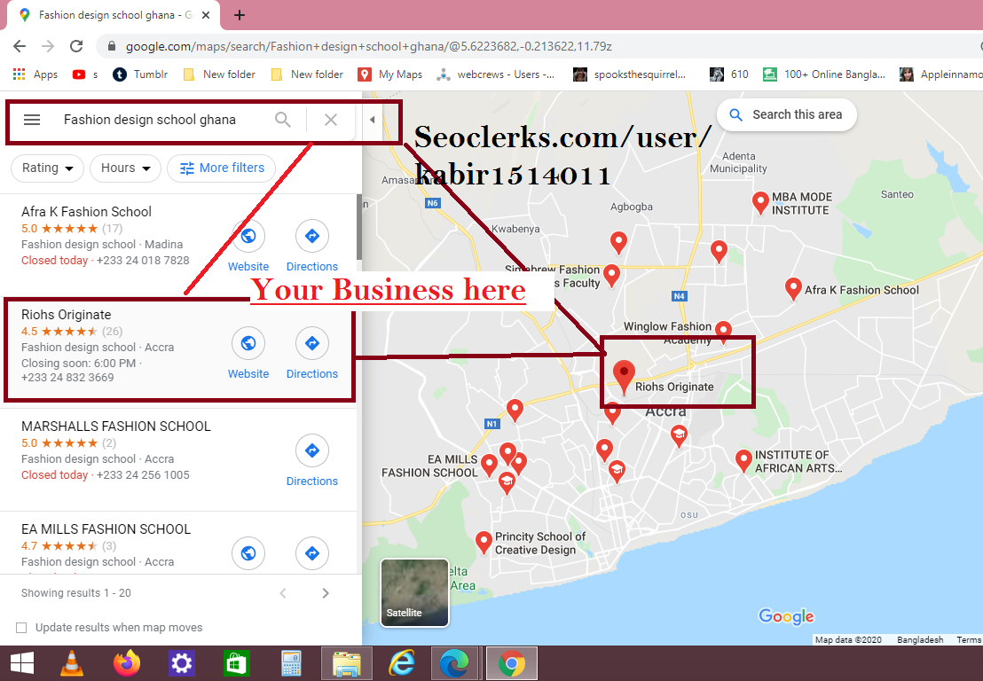 500 Google point map citation for your local business