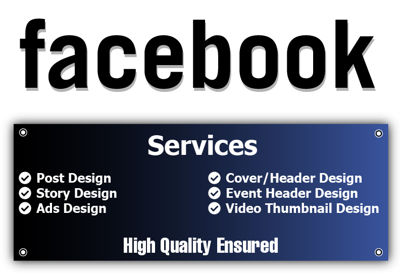 Design Facebook Cover,  Post,  Story,  Ads and Video Thumbnail