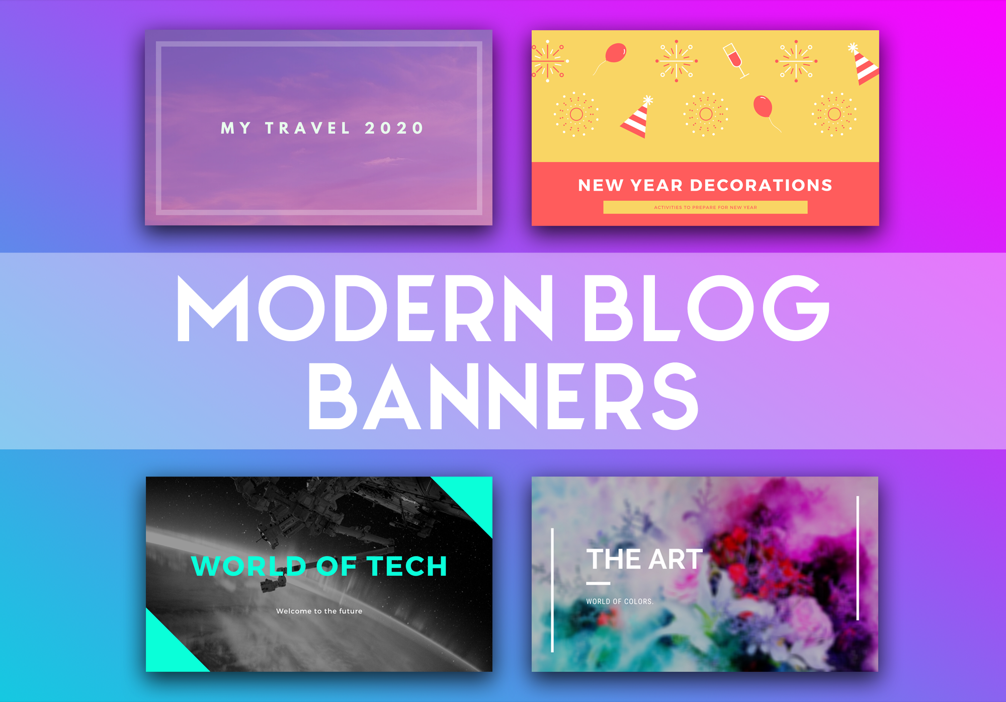 I will make great post banners/images for any blog