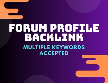 300 high forum profile backlink