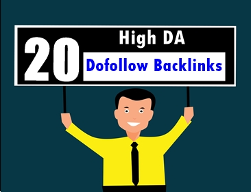 Get 20 high domain authority Dofollow backlink for largely promoting your site.