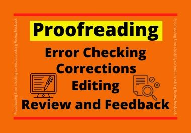 I will carefully and quickly proofread and edit your English texts or documents