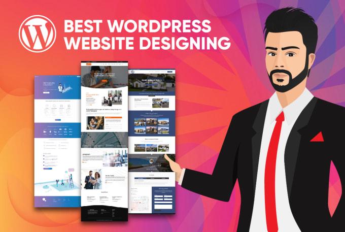 I will design,  fix and create a wordpress website