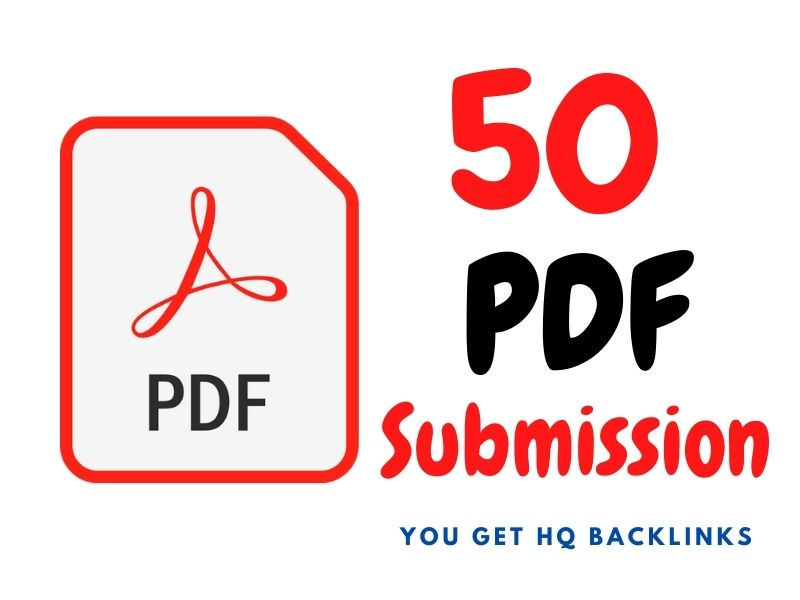 I will do manually PDF submission to 50 pdf sharing sites
