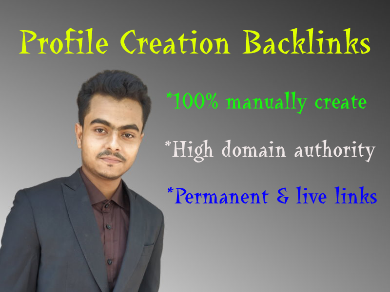 I will do 120 social profile setup or profile creation backlinks on high da website