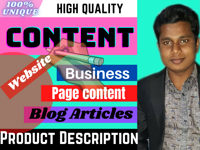 I will write 500-1000 words Product description or website and blog content