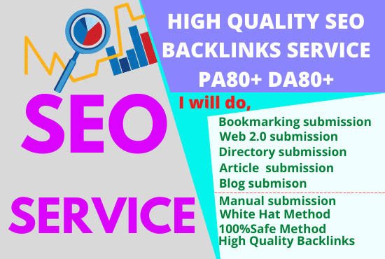 I will do SEO link building back link google top ranking