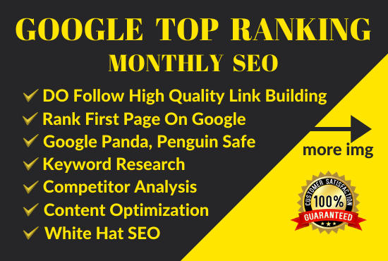 SEO link building and google top ranking with safe method