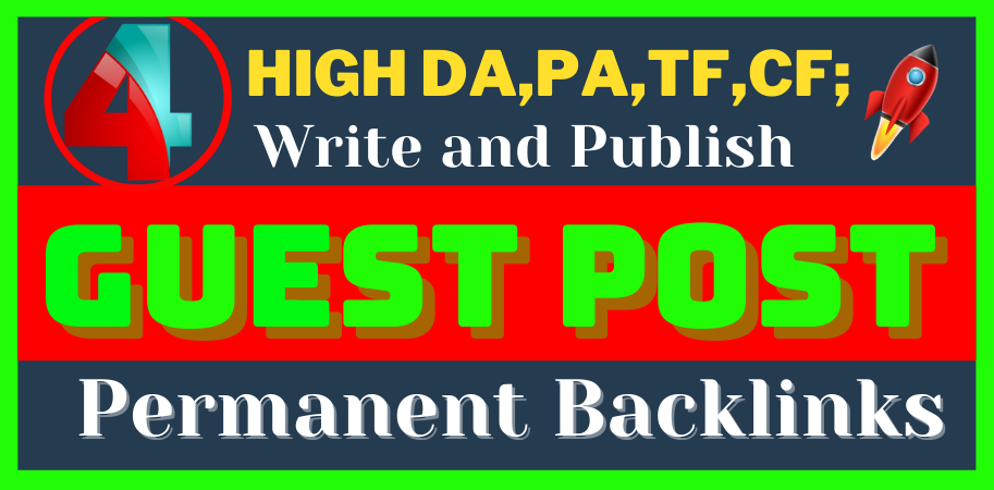 write and publish 4 H.Q. DA, PA Guest Post permanent Backlinks on reddit,  behance,  linkedin,  medium