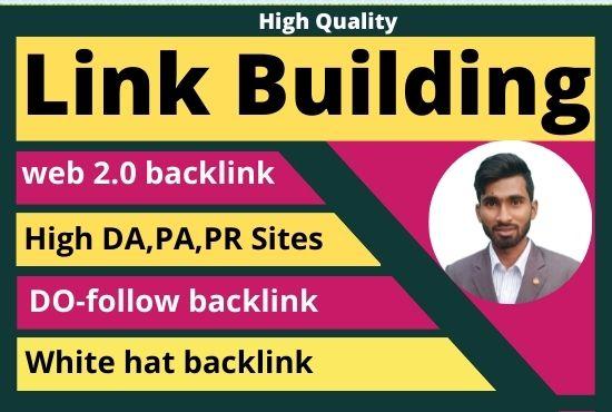 I will manually do high authority web 2 0 backlinks
