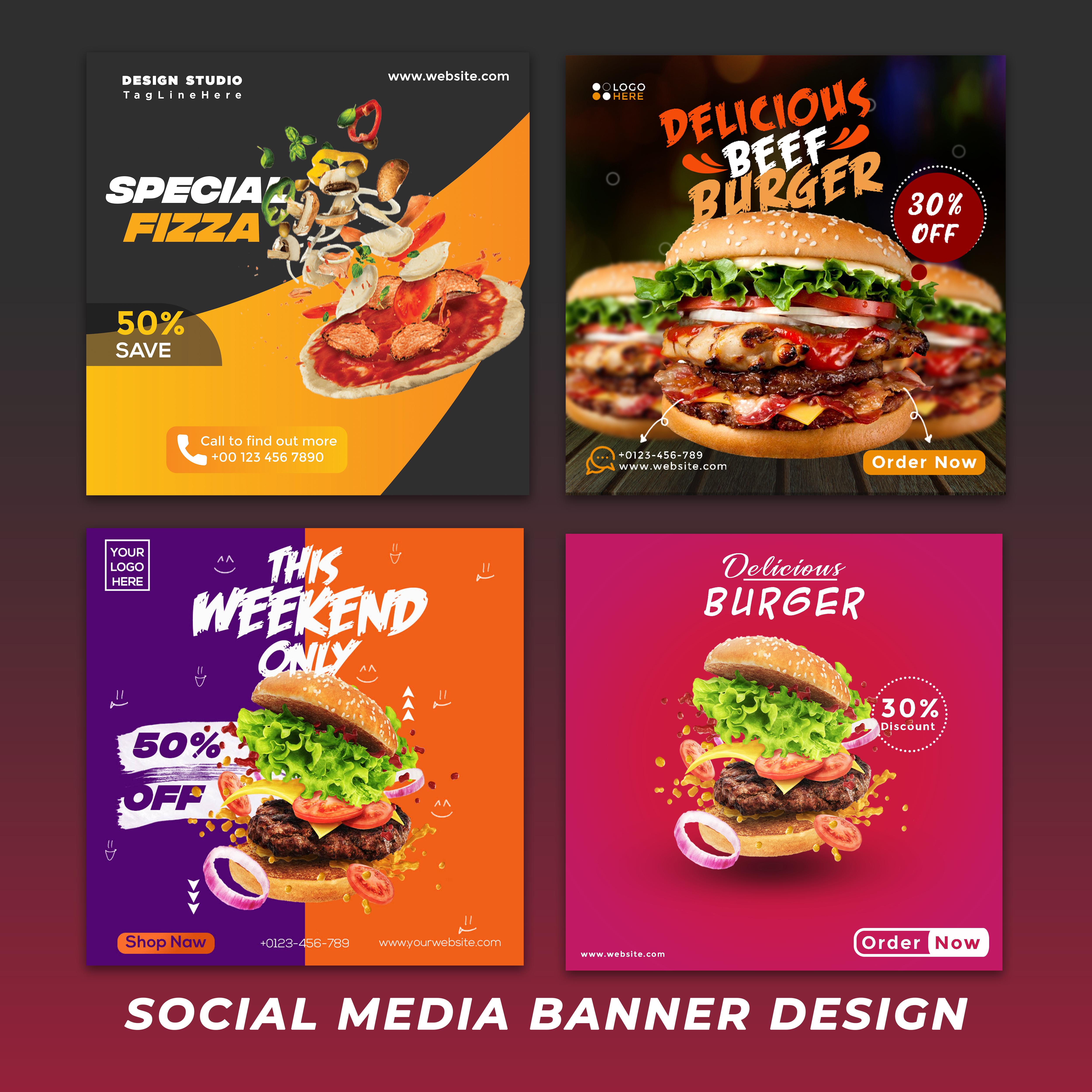 I will design a professional modern Social Media Banner Design