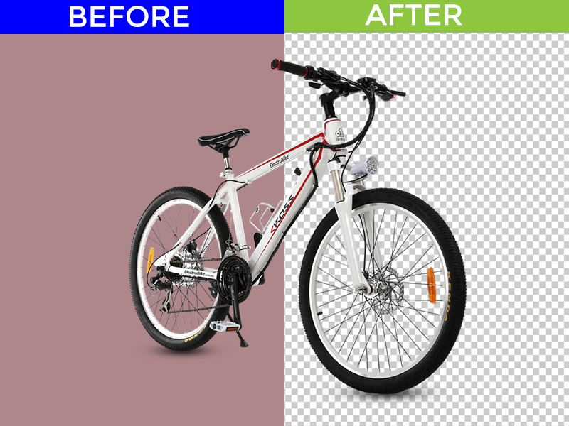 I will do 2 photo background remove and retouched