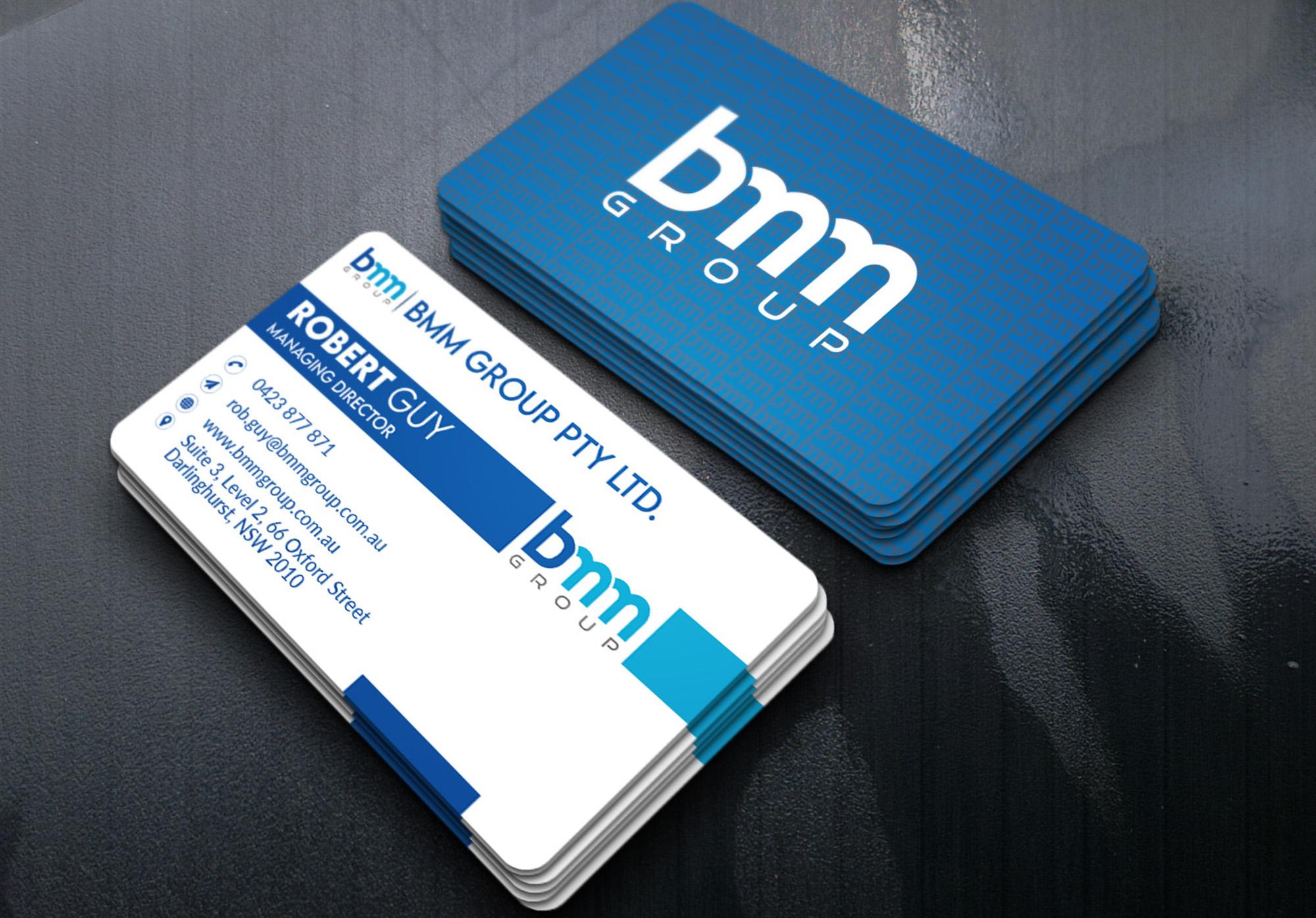 unique and professional business card design