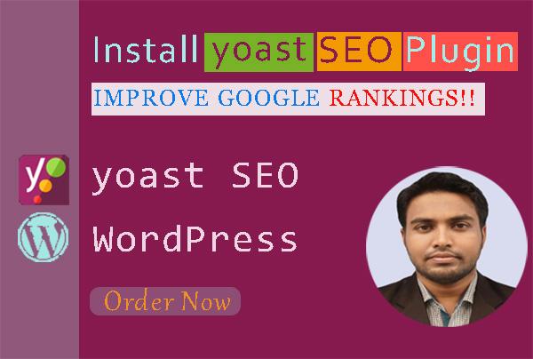 I will optimize your WordPress website using Yoast SEO plugin