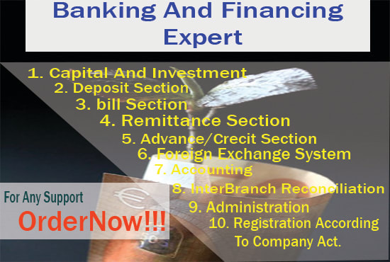 accounting and financial banking management works