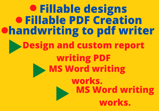 I will write and design your hard copy into fillable soft copy