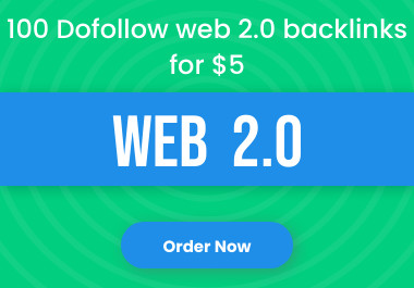 I will create manually 100 dofollow web 2.0 backlinks