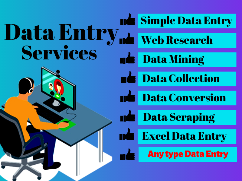 I will Provide Best Data Entry Service,  copy past,  excel data entry,  Pdf to word/excel