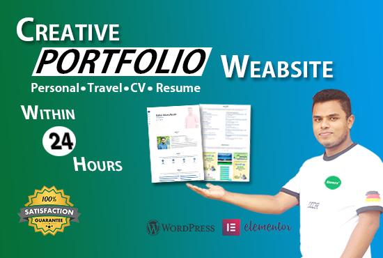 I will design creative personal portfolio