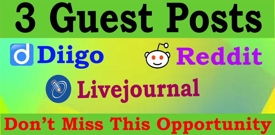 Write and Publish 3 Guest Posts High Quality Blog DA90+ Permanent Backlinks