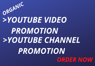 I will do organic you tube marketing, video marketing, video promotion and social media marketing
