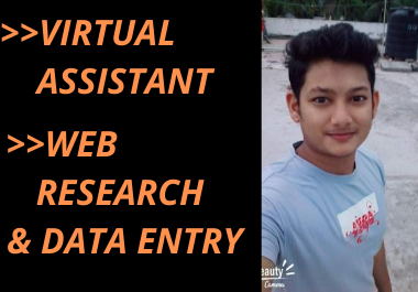 I will be your virtual assistant for data entry,data collection,data mining
