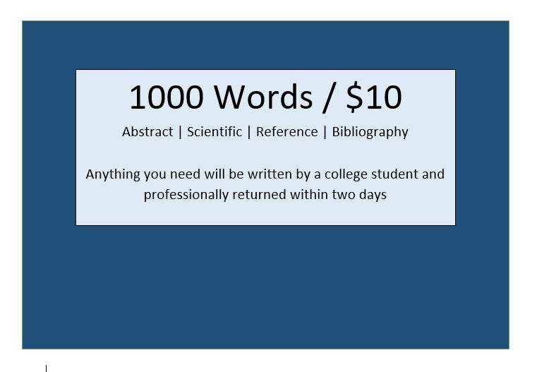 1000 words written by a college student at an unbeatable price