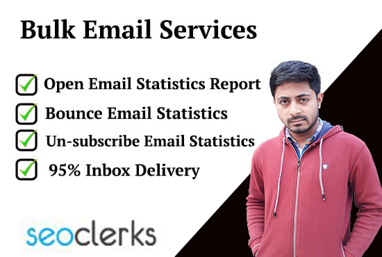 I will send bulk emails and email marketing services