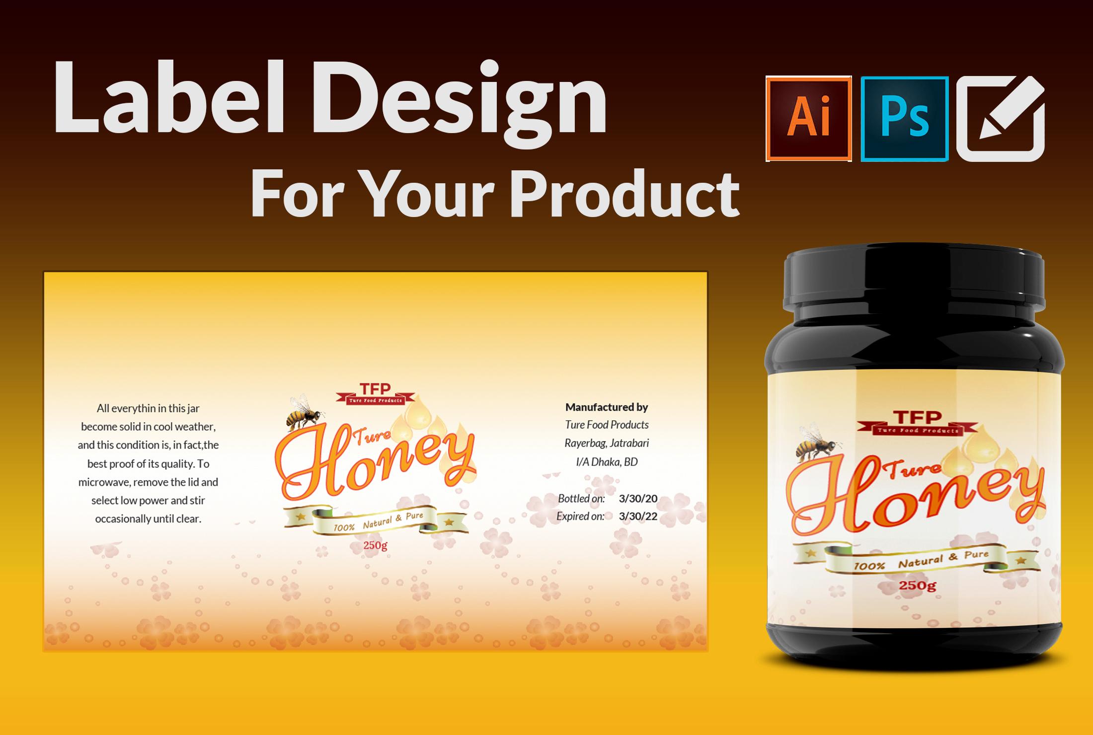 I will do bottle label design and jar label design within 24 hours