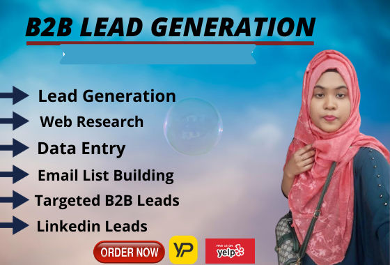 I will do targeted b2b lead generation and email list building