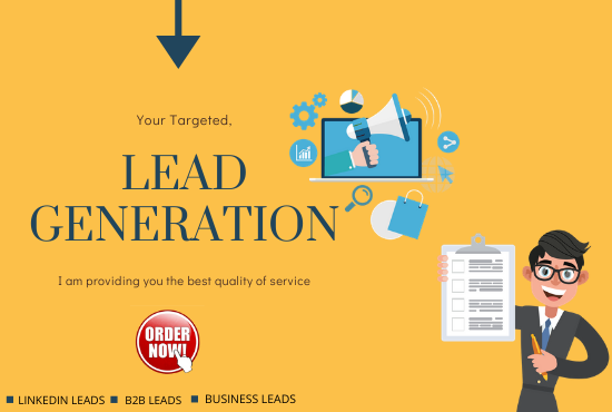 I will do targeted business lead generation