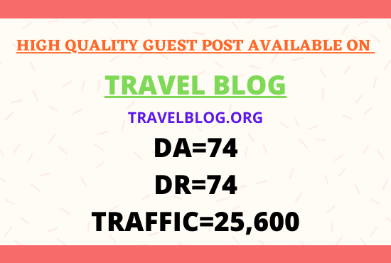 I Will Publish high quality SEO guest post on DA 74
