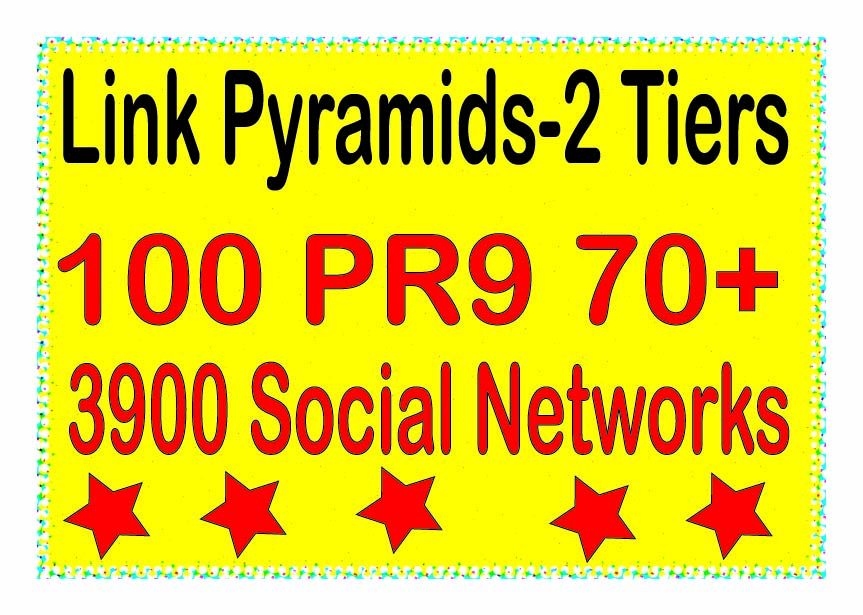 Powerful Multi-Tier - 4000 Contextual PR9 DA70+ &. Social networks Tiered Backlinks For SEO