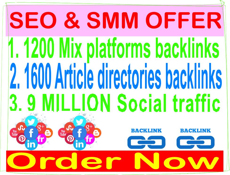 Super Powerful Dominate 3 TIER - 1200 Mix Platforms & 1600 Article directories & 9 Million traffic