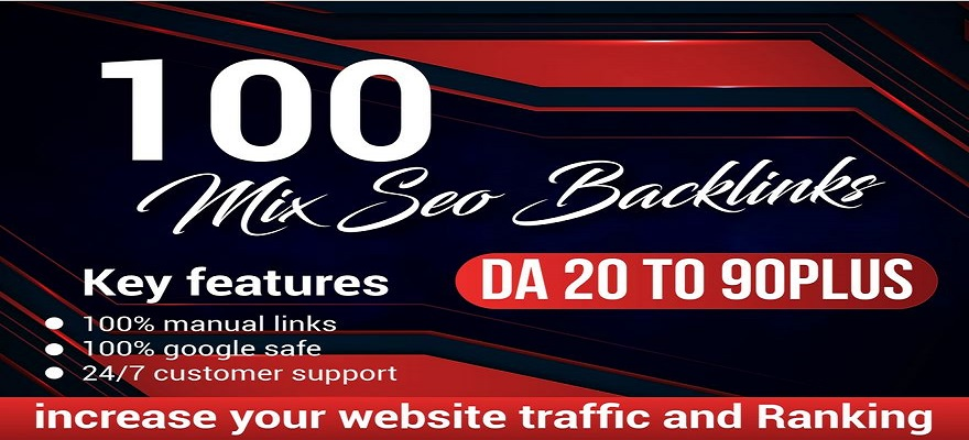 100 high quality seo backlinks mix package