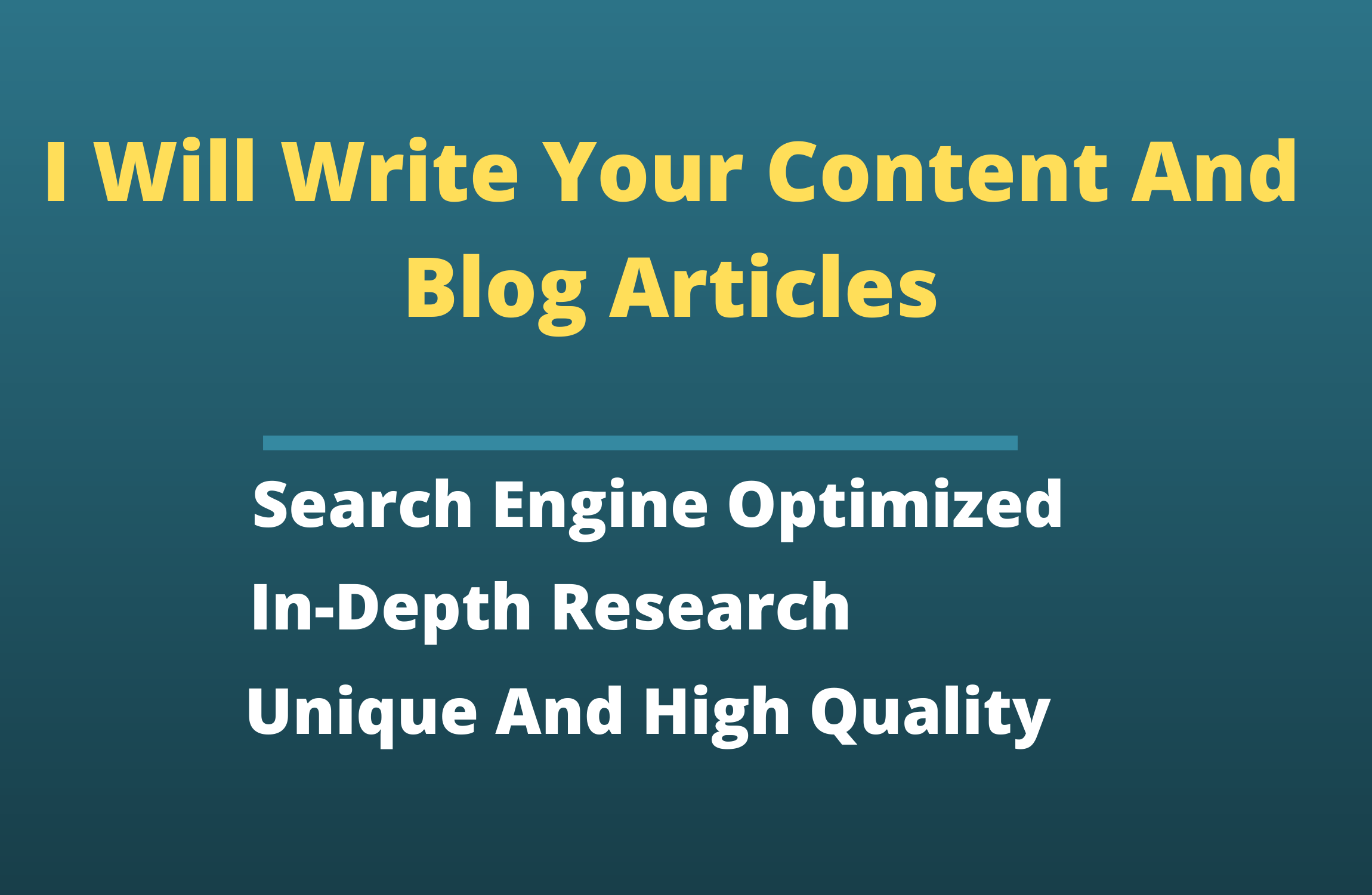 I will be your SEO article or blog content writer