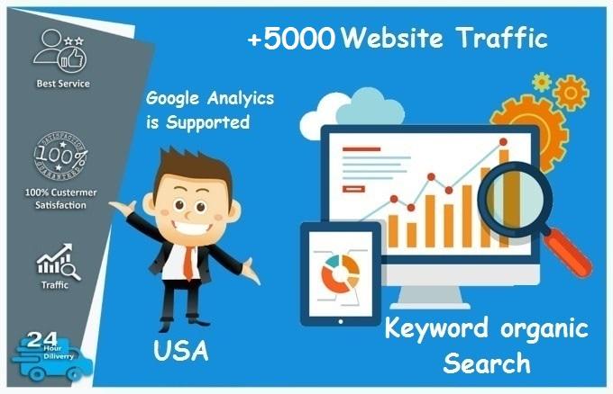 i will drive +5000 keyword website traffic from USA
