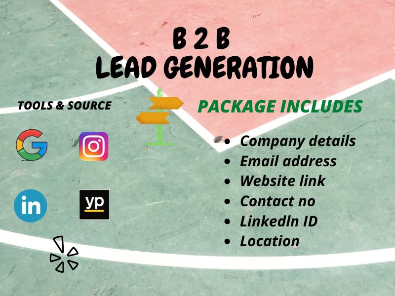 I will prove b2b email list lead generation