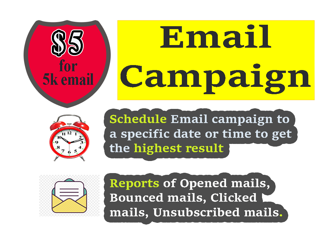 Send bulk emails,  Do email marketing campaign