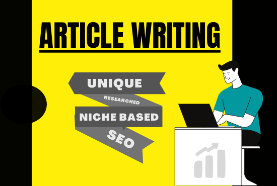 I will write 300-2000 words a niche related SEO friendly article/content for blog and website
