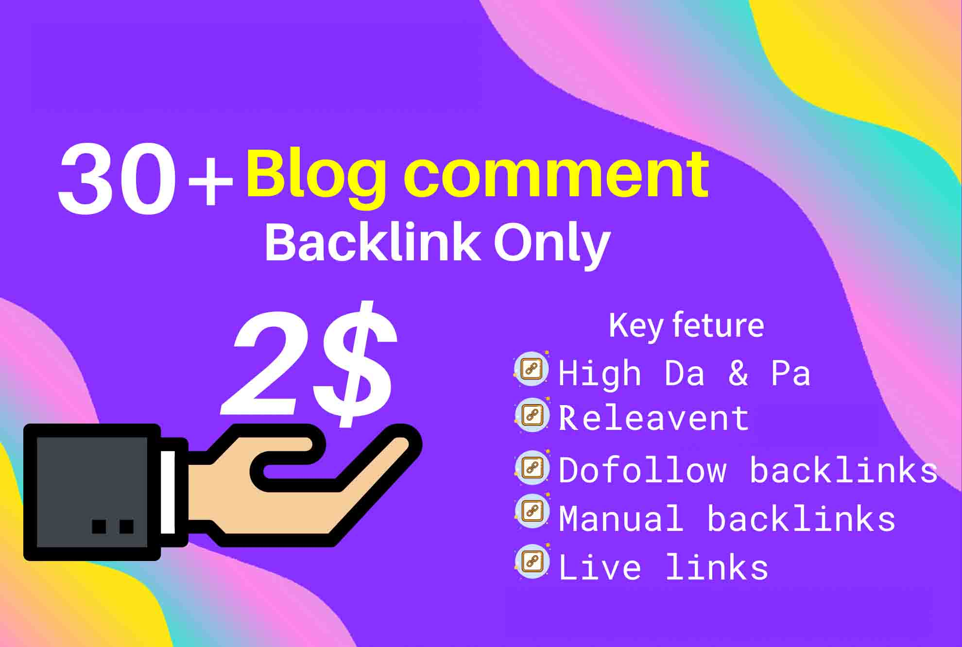 I will create blog comment do-follow backlink