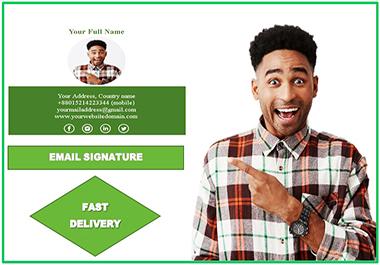 I will design beautiful email signature