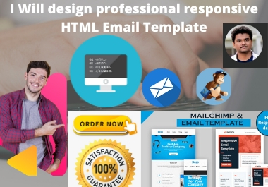 I Will design professional responsive HTML Email Template