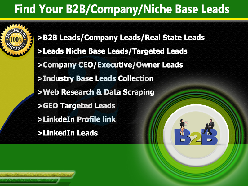 I will do provide targeted b2b lead generation and sales leads