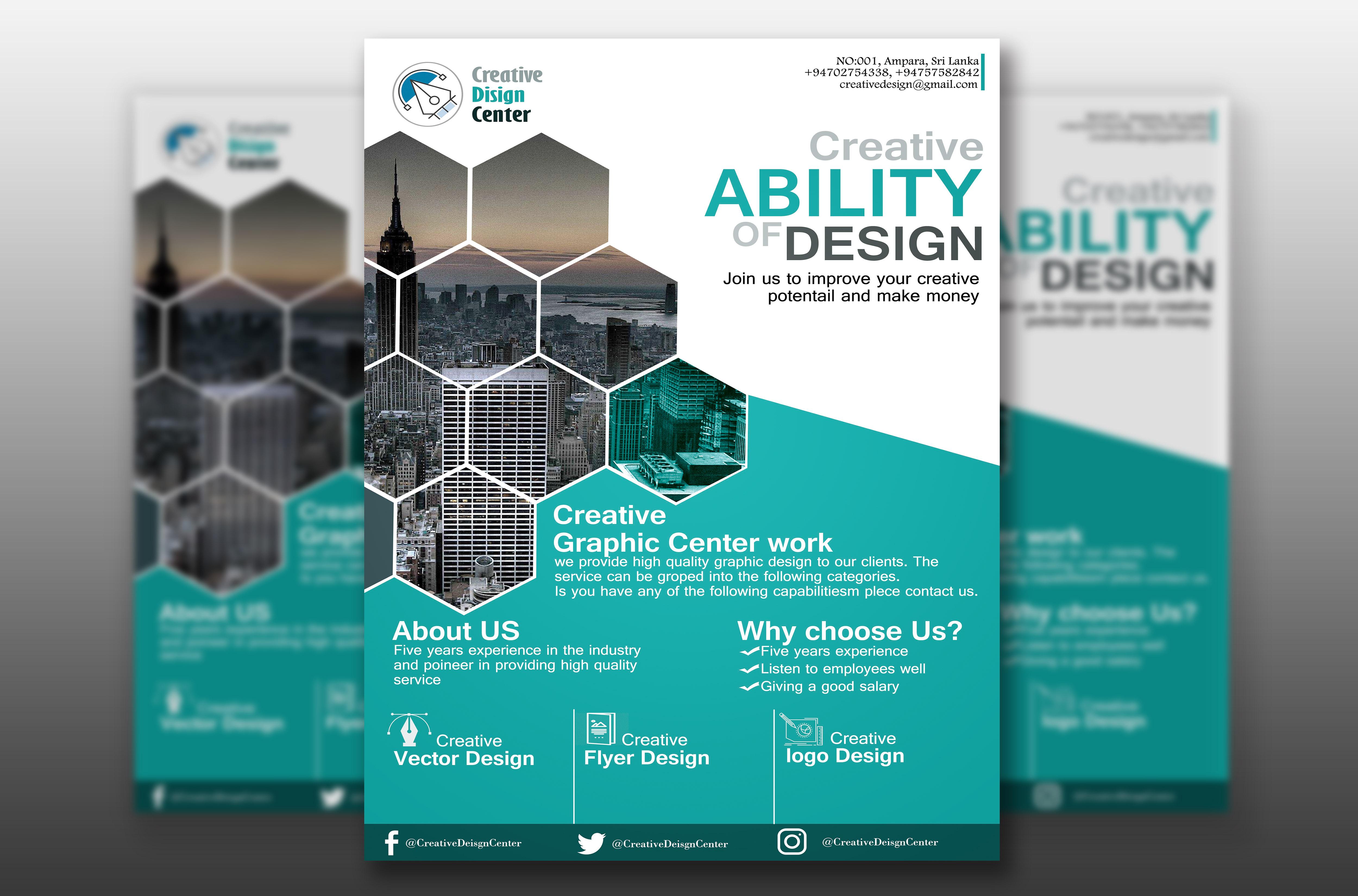 I will design any brochure,  flyer,  banner,  leaflet